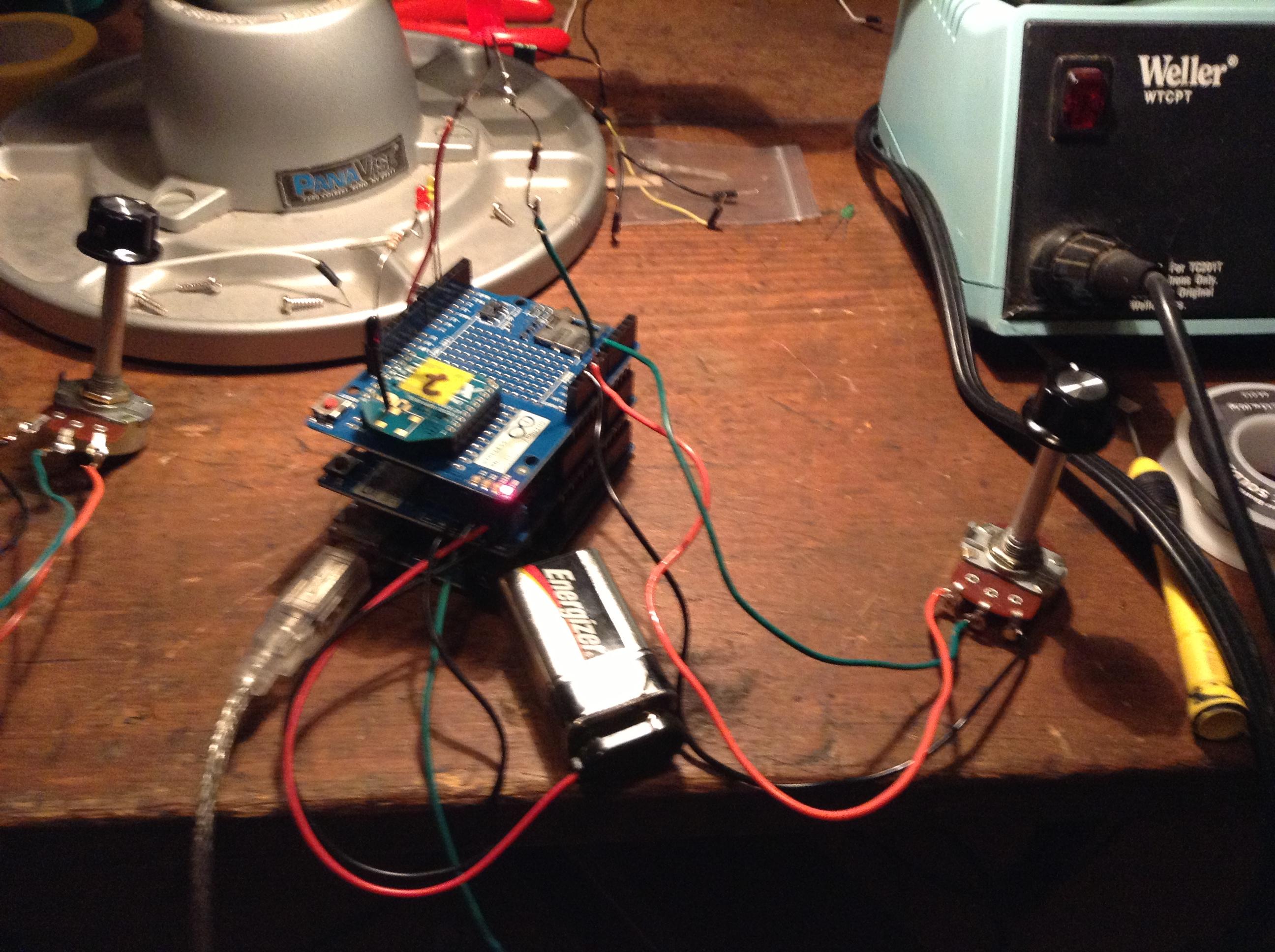 rc car using arduino xbee radios reactive music each